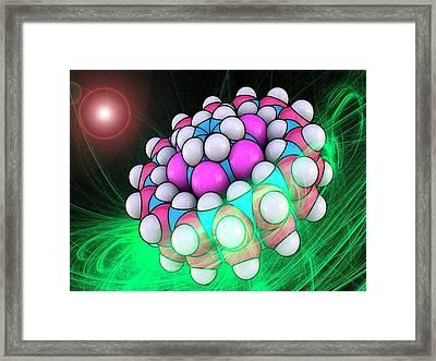 Molecular Bearing Model Framed Print by Laguna Design