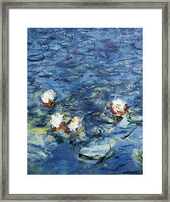 Monet, Claude 1840-1926. Waterlilies Framed Print by Everett
