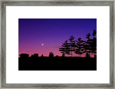 Moonset Framed Print by Cale Best