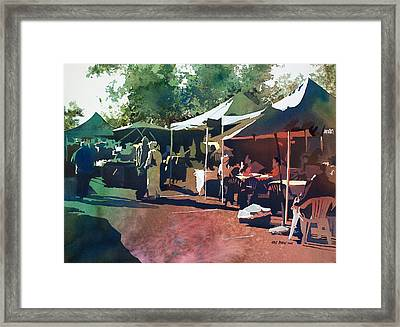 Morning Market Framed Print by Kris Parins