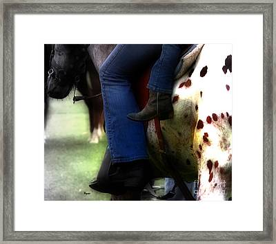 Mother And Child  Framed Print by Steven  Digman