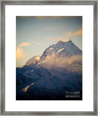 Mount Cook New Zeland Framed Print by Tim Hester