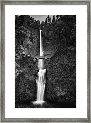Multnomah Falls Framed Print by Andrew Soundarajan