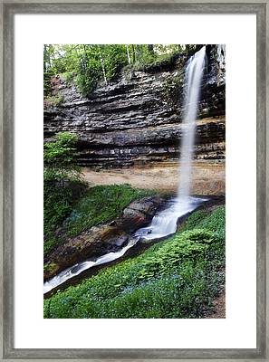 Munising Falls Framed Print by Adam Romanowicz
