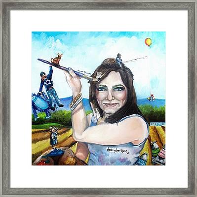 My Life As A Painter Framed Print by Shana Rowe Jackson