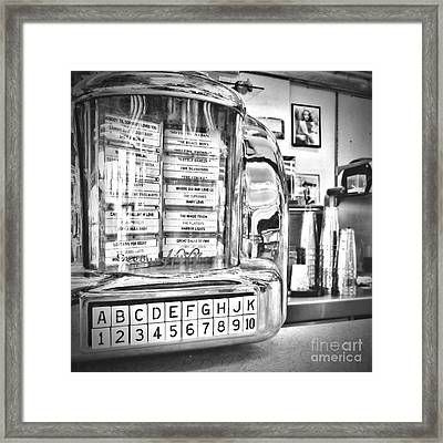 Name That Tune Framed Print by Peggy Hughes