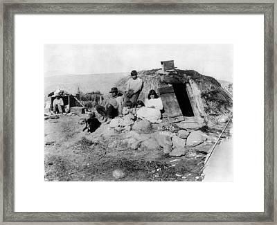 Native American Family Framed Print by Granger