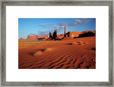 Navajo Nation, Monument Valley, Yei Bi Framed Print by David Wall