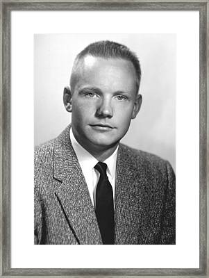 Neil Armstrong, Us Astronaut Framed Print by Science Photo Library