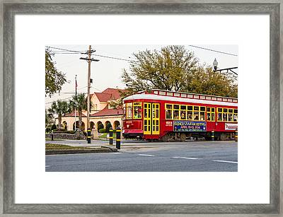 New Orleans Streetcar Framed Print by Steve Harrington