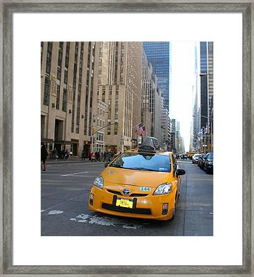 New York City Taxi Framed Print by Dan Sproul