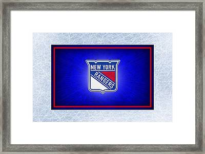 New York Rangers Framed Print by Joe Hamilton