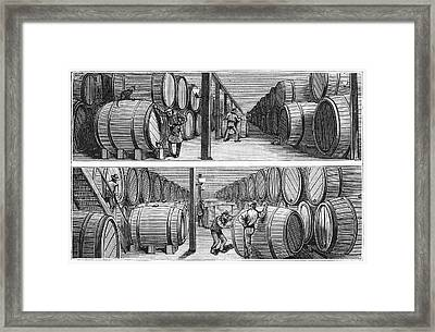 New York Wine Industry Framed Print by Granger