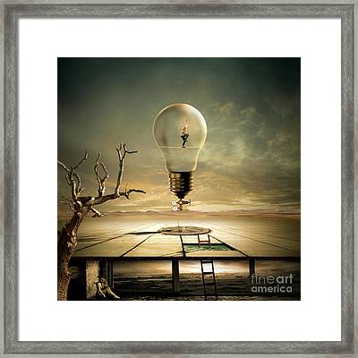 Night Walk Framed Print by Franziskus Pfleghart