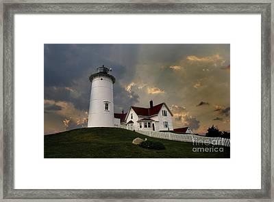 Nobska Lighthouse Framed Print by Skip Willits