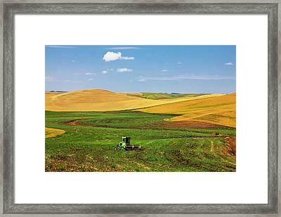 North America Washington Palouse Framed Print by Terry Eggers