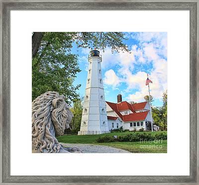 North Point Lighthouse Framed Print by Jack Schultz