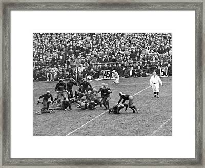 Notre Dame-army Football Game Framed Print by Underwood Archives