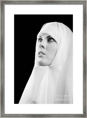 Nun Praying Framed Print by Aleksey Tugolukov