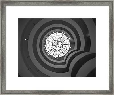 Nyc Guggenheim Framed Print by Nina Papiorek