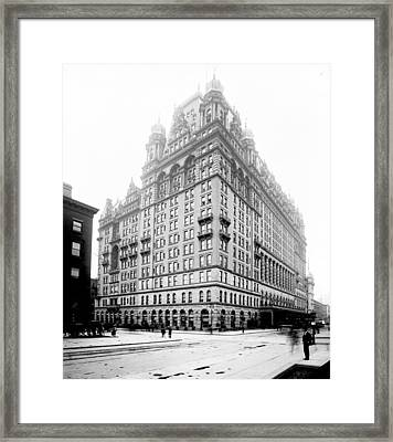 Nyc, Original Waldorf-astoria Hotel Framed Print by Science Source