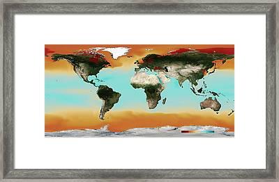 Ocean Carbonate Saturation Framed Print by Noaa