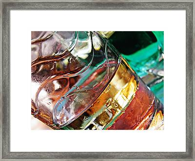 Oil And Water 28 Framed Print by Sarah Loft