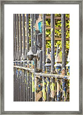 Old Gate Framed Print by Tom Gowanlock