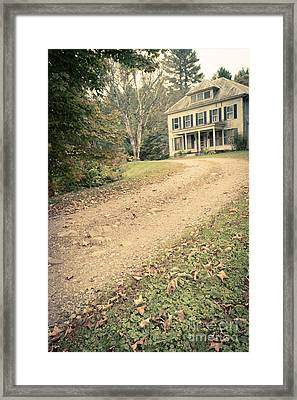 Old House On The Hill Framed Print by Edward Fielding