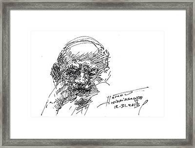 Old Man Framed Print by Ylli Haruni