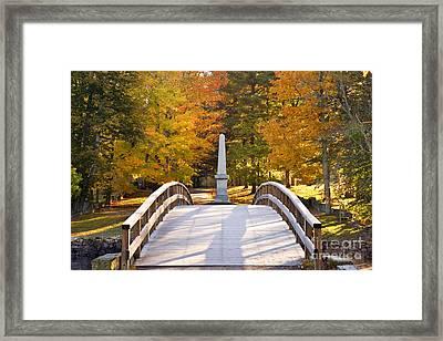 Old North Bridge Concord Framed Print by Brian Jannsen