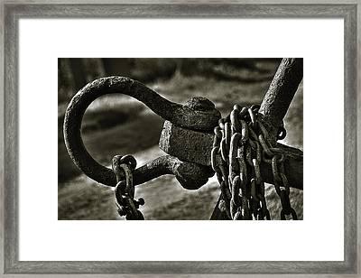 Old Rusty Anchor Framed Print by Erik Brede