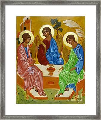 Old Testament Trinity Framed Print by Joseph Malham