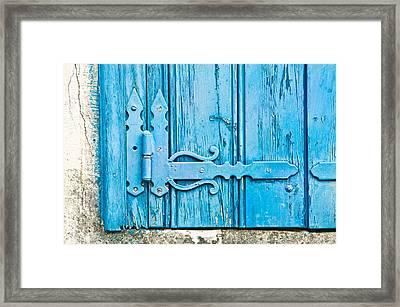 Old Wooden Door Framed Print by Tom Gowanlock