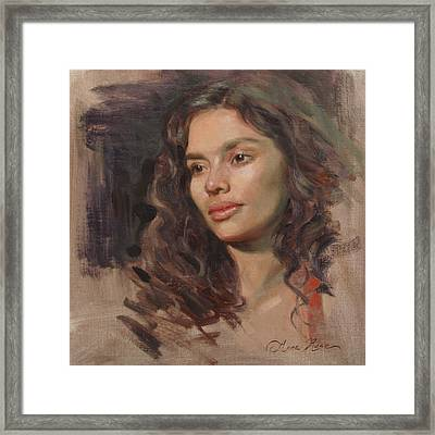 Olivia Framed Print by Anna Rose Bain
