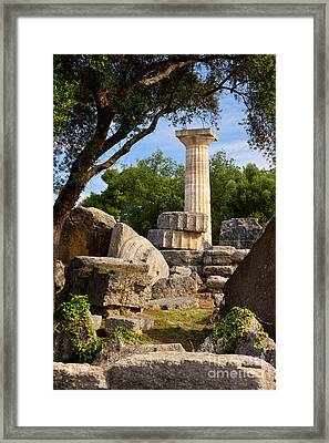 Olympia Ruins Framed Print by Brian Jannsen