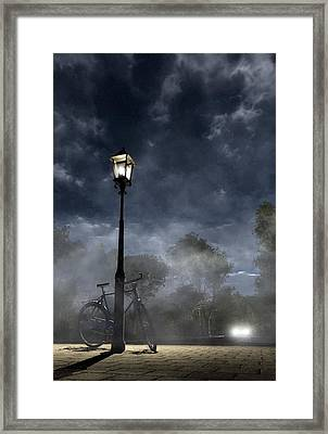 Ominous Avenue Framed Print by Cynthia Decker
