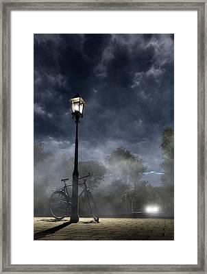 Ominous Avenue Framed Print by Cynthia Decker