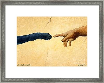 on Monday God made labs... Framed Print by Will Bullas