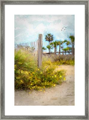 On The Beach Framed Print by Mary Timman