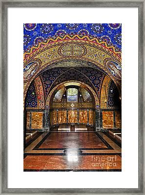 Orthodox Church Interior Framed Print by Elena Elisseeva