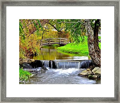 Over The River And Through The Woods Framed Print by Frozen in Time Fine Art Photography