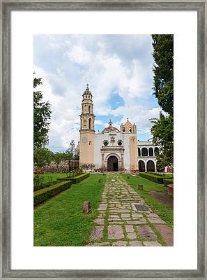 Oxtotipac Church And Monastery Mexico Framed Print by Marek Poplawski