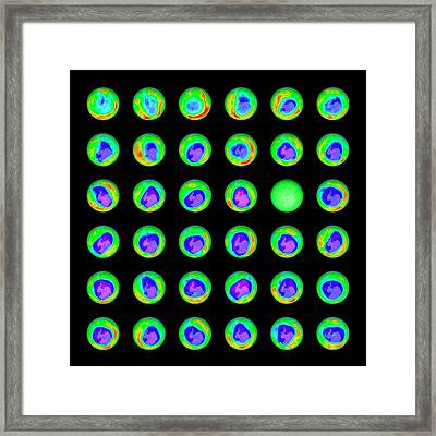 Ozone Hole Framed Print by Science Photo Library