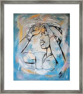 2 Pactupac Shakur Painting Art Poster Framed Print by Kim Wang