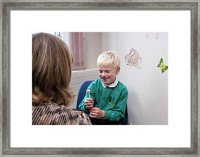 Paediatric Orthoptic Test Framed Print by Life In View