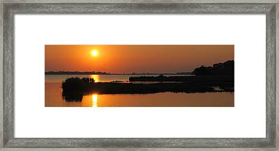 Panoramic Sunset Framed Print by Frozen in Time Fine Art Photography