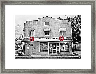 Papa's Poboy Shop Framed Print by Scott Pellegrin