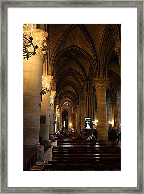 Paris France - Notre Dame De Paris - 01132 Framed Print by DC Photographer