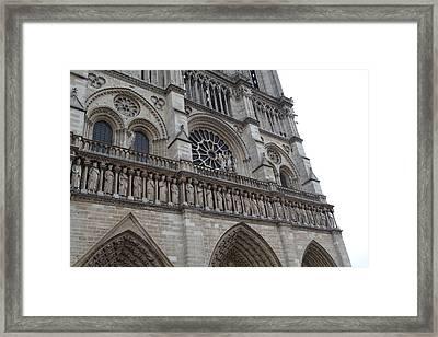 Paris France - Notre Dame De Paris - 01138 Framed Print by DC Photographer